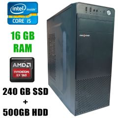 Игровой ПК Logic Power LP2008 / Intel® Core™ i5-3470 (4 ядра по 3.20 - 3.60GHz) / 16GB DDR3 / 240GB SSD+500GB HDD / Radeon RX560 4GB GDDR5 128 bit