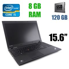"Lenovo ThinkPad L540 / 15.6"" (1366 x 768) / Intel Core i5-4200M (2(4) ядра по 2.5 - 3.1 GHz) / 8 GB DDR3 / 120 GB SSD / USB 3.0"