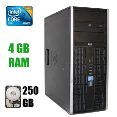HP Elite 8000 Tower / Intel Core 2 Duo E8500 (2 ядра по 3.16GHz) / 4 GB DDR3 / 250 GB HDD