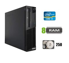 Lenovo m82 Desktop / Intel Core i3-2120 (2(4)ядра по 3.30GHz) / 8 GB DDR3 / 250 GB HDD / DVD-ROM / USB 3.0 / SATA 3