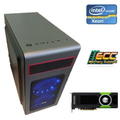 Металический MiDiTower / Intel Xeon E5-1620 (4 (8) ядер по 3.6 - 3.8 GHz) new / 16 GB DDR3 ECC new / 1000 GB HDD / nVidia Quadro FX3800 1GB GDDR3 (256bit) / 800W new