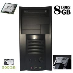 Tower / Intel Core i5-750 (4 ядра по 2.66GHz) / 8 GB DDR3 / 500 GB HDD / nVidia GeForce GTX 1050 2 GB GDDR5 (HDMI, DVI, DP)