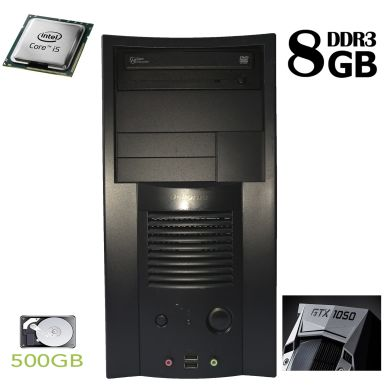 ATX / Intel Core i5-750 (4 ядра по 2.66GHz) / 8 GB DDR3 / 500 GB HDD / nVidia GeForce GTX 1050 2 GB GDDR5 (HDMI, DVI, DP)