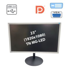 "Монітор Eizo FlexScan EV2316W / 23"" (1920x1080) TN MG-LED / DVI-D, VGA, DP, USB-Hub, Audio Ports / Flicker-free / вбудовані колонки 2х 1W"