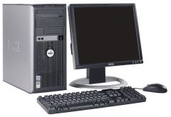 Dell Optiplex 380 Tower / Intel Core 2 Duo E7500 (2 ядра по 2.93GHz) / 4GB DDR3 / 160GB HDD + монитор Fujitsu B19-6 / 19' / 1280x1024