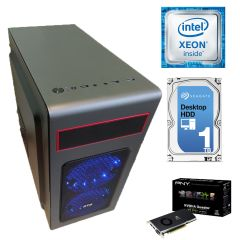 Металический MiDiTower / Intel Xeon E5-2620 (6 (12) ядер по 2.0 - 2.5 GHz) new / 16 GB DDR3 ECC new / 1000 GB HDD / nVidia Quadro FX3800 1GB GDDR3 (256bit) / 500W new