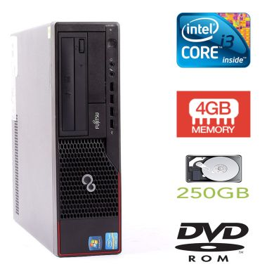 Fujitsu E700 SFF / Intel Core i3-2100 (2(4) ядра по 3.1GHz) / 4GB DDR3 / 250GB HDD + наклейка Windows 7 Pro