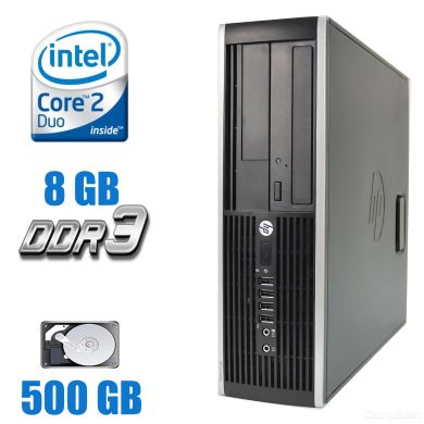 HP 6000 Pro SFF / Intel Core 2 Duo E7500 (2 ядра по 2.93GHz) / 8 GB DDR3 / 500 GB HDD