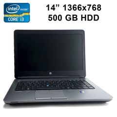 "HP ProBook 640 G1 / 14"" / Intel Core i3-4000M (2(4)ядра по 2.4GHz) / 4GB RAM DDR3 / 500 GB HDD / DVD Super Multi / LAN / Wi-Fi / Bluetooth / веб-камера"