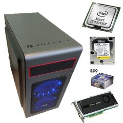 Металический MiDiTower / Intel Xeon E5-1650 (6 (12) ядер по 3.2 - 3.8 GHz) new / 32 GB DDR3 ECC new / 1000 GB HDD / nVidia Quadro 4000 2GB GDDR5 (256bit) / 800W new