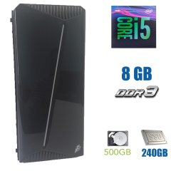 1st Player Rainbow-R3 Gaming / Intel Core i5-4670 (4 ядра по 3.4 - 3.8GHz) / 8 GB DDR3 / 240 GB SSD New+500 GB HDD / БП 350 HEC