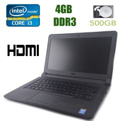 "Dell Latitude 3340 / 13,3"" (1366x768) / Intel Core i3-4010U (2(4) ядра по 1.7GHz) / 4GB DDR3 / 500GB HDD / web-cam"