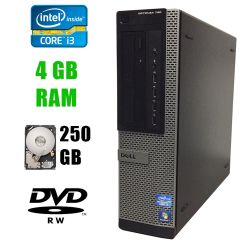Dell Optiplex 790 DT / Intel Core i3-2120 (2(4)ядра по 3.30GHz) / 4 GB DDR3 / 250 GB HDD / DVD-RW