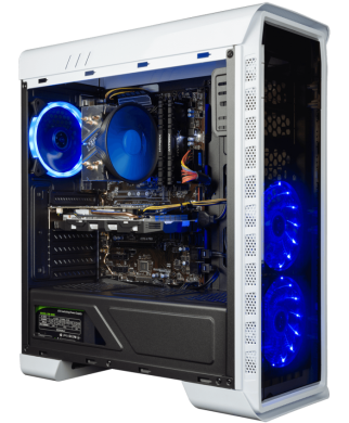 GameMax Elysium White MT / Intel® Core™ i5-7400 (4 ядра по 3.0 - 3.5 GHz) / 8 GB DDR4 / 120 GB SSD + 1000 GB HDD / nVidia GeForce GTX 1070 (8 GB GDDR5 256 bit) / 600 W