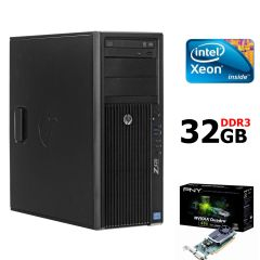 HP Workstation Z420 / Intel® Xeon® E5-1603 (4 ядра по 2,8 GHz) / 32GB DDR3 / 500GB SATA HDD / nVidia Quadro 600 (1GB DDR3 128-bit)