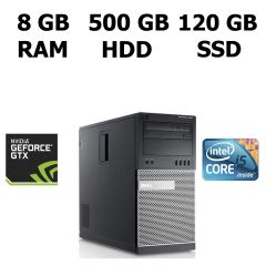 Dell Optiplex 990/7010 MT / Intel® Core™ i5-3330 (4 ядра по 3.0 - 3.3 GHz) / 8GB DDR3 / 120GB SSD / 500 GB HDD / GeForce GTX 950 (2GB 128-bit GDDR5)