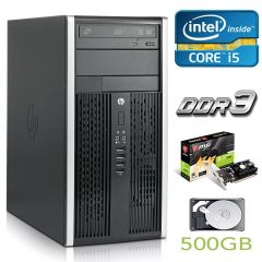 Hewlett-Packard 6200 MT / Intel Core i5-2400 (4 ядра по 3.1-3.4GHz) / 8 GB DDR3 / 500 GB HDD / GeForce GT 1030 2 GB GDDR5