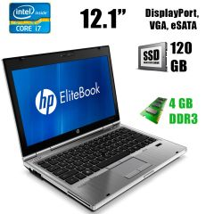 "HP Elitebook 2560p / 12.1"" / Intel Core i7-2640M (2(4)ядра по 2.8 - 3.5GHz) / 4GB DDR3 / 120GB SSD / DVD-RW / DisplayPort, eSATA, Webcam"