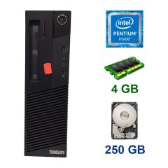 Lenovo ThinkCentre M83 DT / Intel Pentium G3420 (2 ядра по 3.2 GHz) / 4 GB DDR3 / 250 GB HDD / DVD ROM