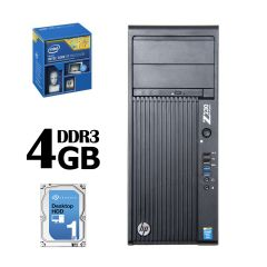 Hewlett-Packard Z230 Workstation / Intel Core i7-4770 4(8) ядер по 3.4-3.9GHz / 4GB DDR3 / 1000 ГБ HDD