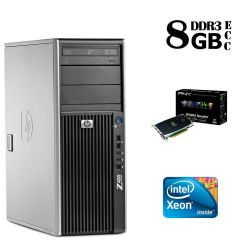 Hewlett-Packard Z400 Tower / Intel Xeon W3530 (4(8) ядра по 2.8-3.06GHz) / 8GB DDR3 ECC / 300 GB SAS 15000 RPM / NVIDIA Quadro FX 3800 1GB 256-bit (DVI, VGA)