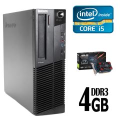 Lenovo m82 SFF / Intel Core I5-2400 (4 ядра по 3.1GHz) / 4GB DDR3 / 250 GB HDD / new! nVidia GeForce GT 730 1GB 12-мес гарантии