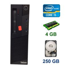 Lenovo ThinkCentre M83 DT / Intel Core i5-4430 (4 ядра по 3.0 - 3.2 GHz) / 4 GB DDR3 / 250 GB HDD / DVD ROM