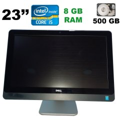 "Моноблок Dell 9020 / 23"" (1920x1080) Touch / Intel Core i5-4570 (4 ядра по 3.2 - 3.6 GHz) / 8 GB DDR3 / 500 GB HDD / Intel HD Graphics 4600"