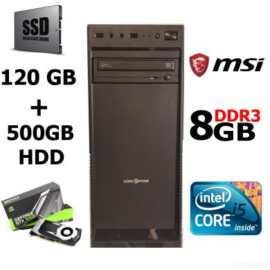 MSI MiniTower / Intel® Core™ i5-2400 (4 ядра по 3.1 - 3.4 GHz) / 8 GB DDR3 / 500 GB HDD + 120 GB SSD / nVidia GeForce 1060 3GB GDDR5 192-bit