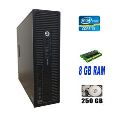 HP EliteDesk 800 G1 SFF / Intel Core i3-4150 (2 (4) ядра по 3.5 GHz) / 8 GB DDR3 / 250 GB HDD