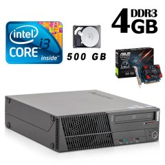 Lenovo m82 SFF / Intel Core i3-3220 (2(4) ядра по 3.3GHz) / 4GB DDR3 / 500 GB HDD / nVidia GeForce GT 730 4GB