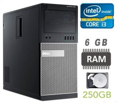 Dell Optiplex 790 MT / Intel Core i3-2120 (2 (4) ядра по 3.3GHz) / 6 GB DDR3 / 250 GB HDD
