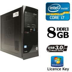 HP 7300 Elite Tower / Intel Core i7-2600 (4(8) ядер по 3.4-3.8GHz) / 8GB DDR3/ 500GB HDD / USB 3.0 / лицензия Windows 7