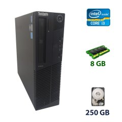 Lenovo ThinkCentre M82 SFF / Intel Core i3-3240 (2 (4) ядра по 3.4 GHz) / 8 GB DDR3 / 250 GB HDD / DVD-ROM