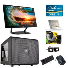 Thermaltake MicroATX / Intel Core i5-6500 (4 ядра по 3.2-3.6GHz) / 16GB DDR4 / 1TB HDD + 120GB SSD / Zotac GeForce GTX 1050 Ti 4GB GDDR5 / БП 500W + монитор HP 22cwa / 1920x1080 + беспроводные мышь, клавиатура + колонки