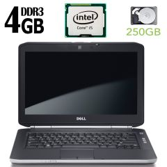 Dell latitude E5420 / 14' / Intel Core i5-2520M ( 2(4) ядра по 2.5GHz) / 4GB RAM / 250GB HDD / Intel HD Graphics 3000 / web-camera / DVD-RW