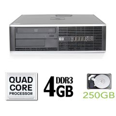 Hewlett-Packard 8000 Elite SFF / Intel Core 2 Quad Q9505 (4 ядра по 2.83GHz) / 4GB DDR3 / 250GB HDD