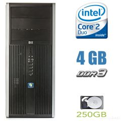 HP Compaq Elite 8000 MT / Intel Core 2 Duo E8500 (2 ядра по 3.16GHz) / 4 GB DDR3 / 250 GB HDD