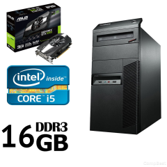 Lenovo M82 Tower / Intel Core i5-3470 (4(4) ядра по 3.20-3.60GHz) / 16GB DDR3/ 500GB HDD + Новий 120GB SSD / Новий БП 500W Gamemax/ Відеокарта GF GTX 1060 3GB DDR5 192bit (HDMI,DVI,DP)