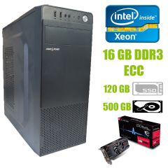 Logic Power LP2008 ATX / Intel Xeon E5-2440 (6 (12) ядер по 2.4-2.9 GHz) / 16 GB DDR3 ECC / new 120 GB SSD+500 GB HDD / AMD Radeon RX 560 4GB GDDR5 128-bit
