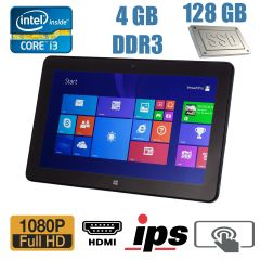 Планшет Dell Venue 11 Pro / 10.8', 1920x1080, IPS, Touch / Intel Core i3-4020Y (2 (4) ядра по 1.5GHz) / 4GB DDR3 / 128GB SSD M.2 / 3G modem / 8 Mpix + 2 Mpix cam / miniHDMI