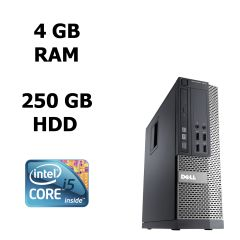 Dell Optiplex 7010 SFF / Intel® Core™ i5-3470 (4 ядра по 3.2 - 3.6 GHz) / 4 GB DDR3 /250 GB HDD