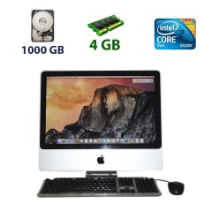 "Apple iMac (Mid 2007) / 20"" (1680x1050) / Intel Core 2 Duo (2 ядра по 2.0 GHz) / 4 GB DDR2 / 1000 GB HDD / ATI radeon HD 2400XT, 128 MB GDDR3, 64-bit + кабель питания + мышь + клавиатура"