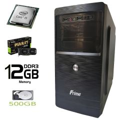 Frime ATX new / Intel Core i5-2500 (4 ядра по 3.3-3.7GHz) / 12 GB DDR3 / 500 GB HDD / Palit GeForce GTX 1050 Ti 4GB GDDR5 (HDMI, DVI, DP) / FSP 400W