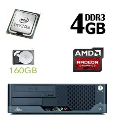 Fujitsu Esprimo E5731 SFF / Intel Core 2 Duo E7500 (2 ядра по 2.93GHz) / 4GB DDR3 / 160GB HDD / AMD Radeon HD 7570 1 GB GDDR5 128 bit