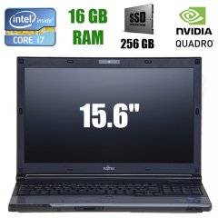 "Fujitsu Celsius H720 / 15.6"" (1920x1080) IPS / Intel Core i7-3720QM (4(8)ядра по 2.60-3.60GHz) / 16 GB DDR3 / 256 GB SSD / nVidia Quadro K1000M 2 GB / DVD-RW, Webcam, USB 3.0, 3G Modem"