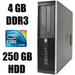 HP 6000 SFF / Intel Core 2 Duo E8400 (2 ядра по 3.0 GHz) / 4 GB DDR3 / 250 GB HDD