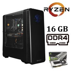 Thermaltake View 28 Black Tower / AMD Ryzen™ 7 2700 (8 (16) ядер по 3.2 - 4.1 GHz) / 16 GB DDR4 / 240 GB SSD+2000 GB HDD / nVidia GeForce GTX 1070 Ti (8GB GDDR5 256 bit) / 600 W