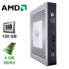 Тонкий клиент HP T610 / AMD G-T56N (2 ядра по 1.65 GHz) / 4 GB RAM DDR3 / 120 GB SSD / DVI-I, DP