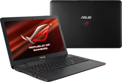 "Asus ROG GL551J / 15.6"" (1920x1080) TN / Intel Core i7-4720HQ (4 (8) ядра по 2.6 - 3.6 GHz) / 16 GB DDR3 / 480 GB SSD / nVidia GeForce GTX 960M 2 GB / WebCam / DVD-RW"